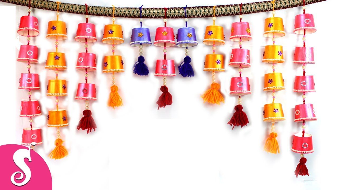Toran From Disposable Tea Gl Diy Hanging For Door Decor Sonali S