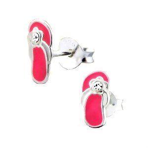 CUTE Pink Flip Flop Sterling Silver Childrens Earrings Post/stud: http://www.amazon.com/CUTE-Sterling-Silver-Childrens-Earrings/dp/B006IRNJ6Q/?tag=greavidesto05-20
