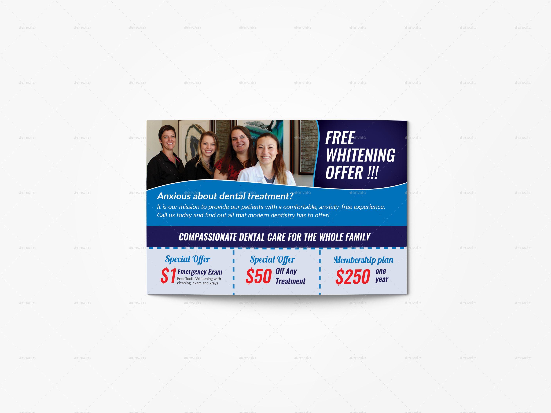 Dental Services Postcard Template Eddm Postcard Template Dental