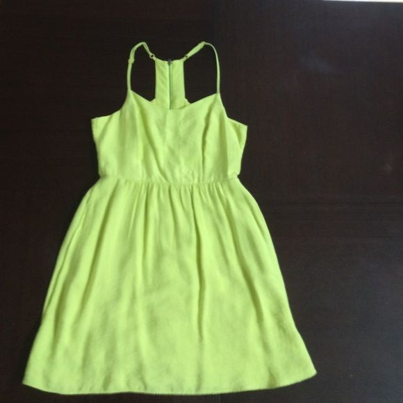 BCBGeneration Denise Dress in Ultra Lime Great summer dress in ultra lime color. Very flattering. Size 6. BCBGeneration Dresses Mini