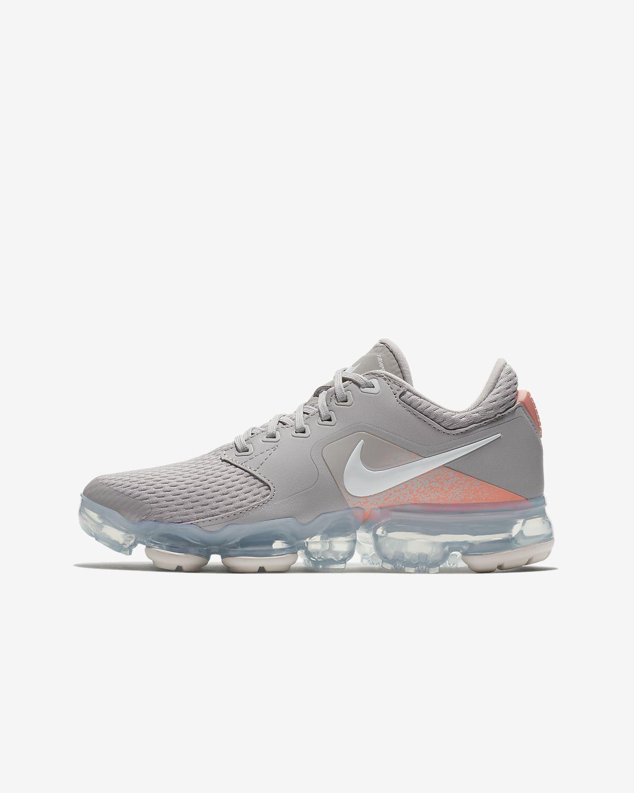 eaaabb5e2148 Big Kids  Nike Air VaporMax Running Shoe Atmosphere Grey Vast Grey Crimson  Pulse White - 917962-008