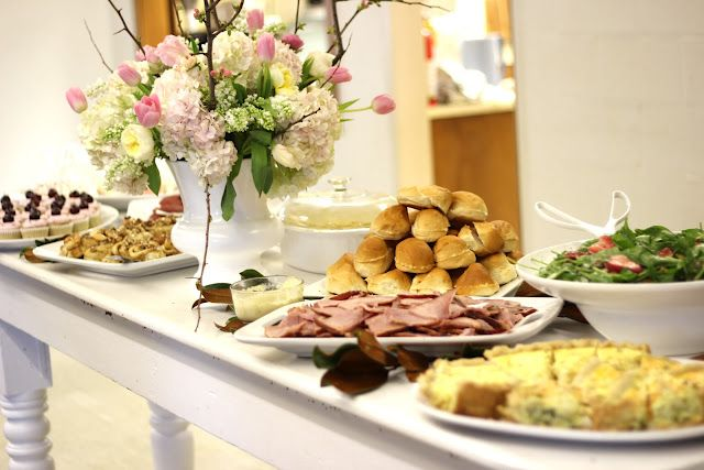 Very nice brunch spread for special occasion