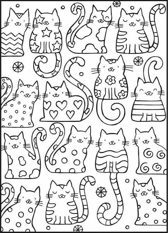 Cute Cats Coloring Page Cat Coloring Book Coloring Books Coloring Pages