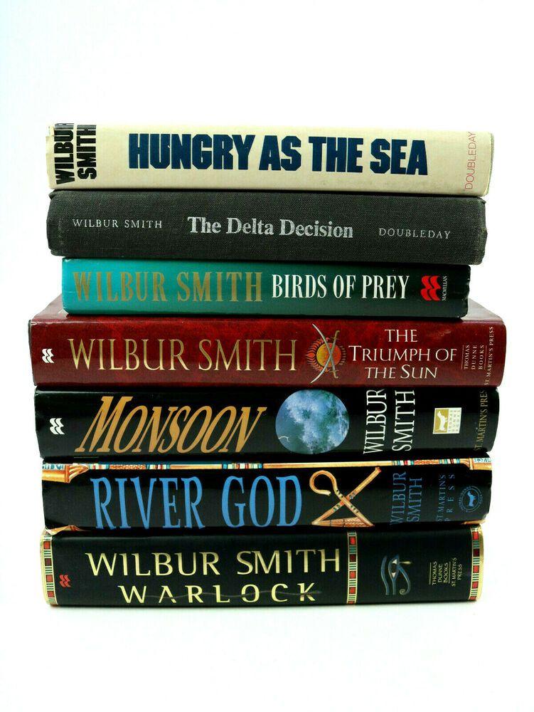 Lot of 7 wilbur smith books hardcover book warlock