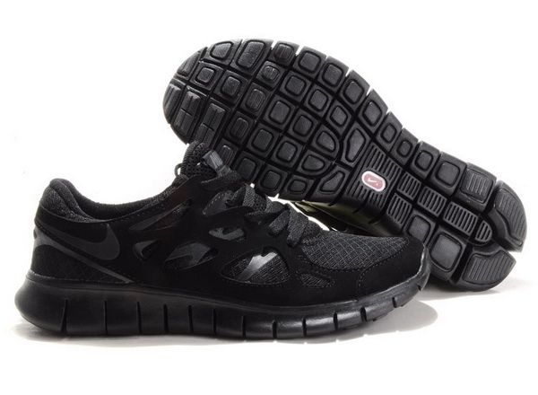 nike free run 2 all black mens