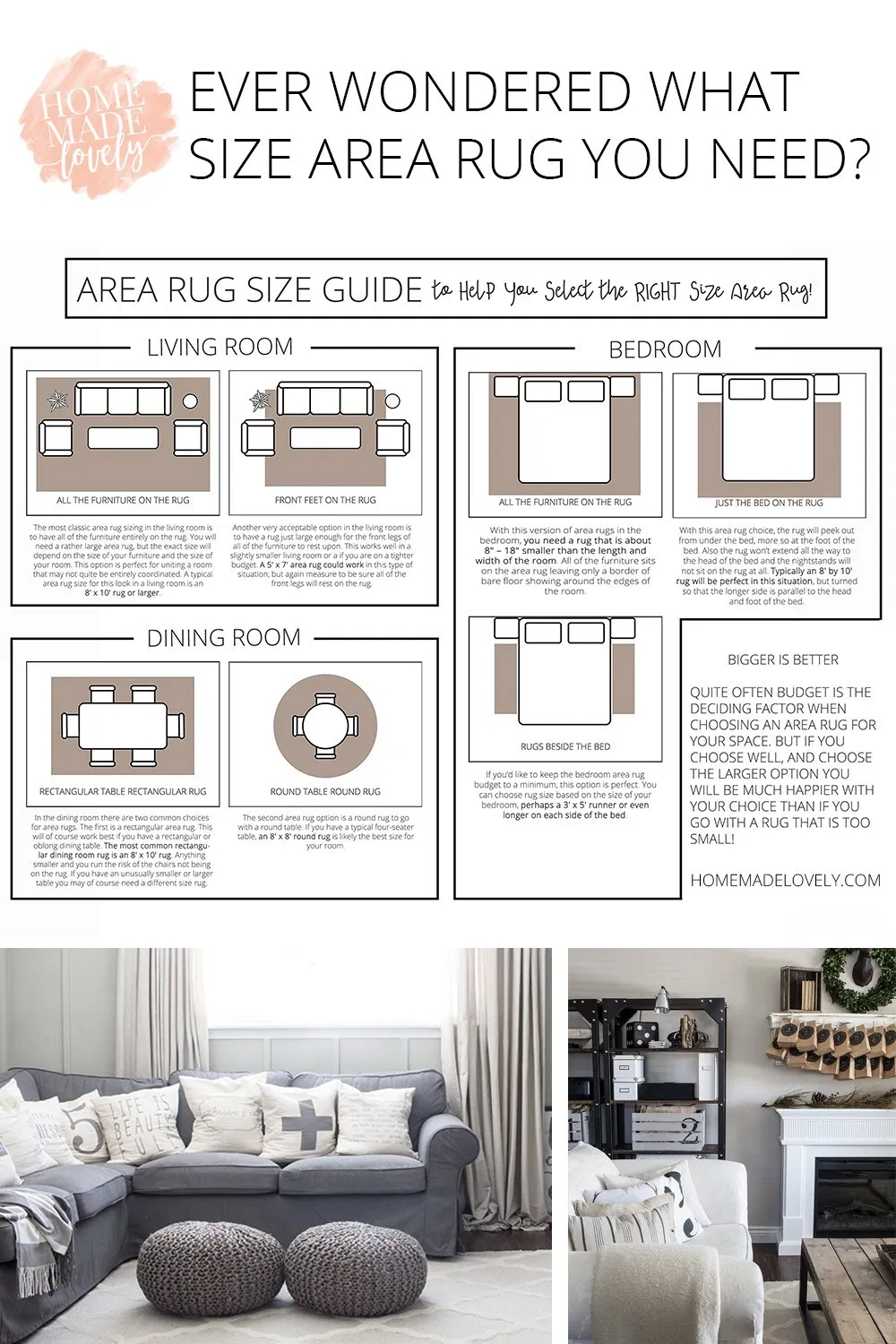 Area Rug Size Guide To Help You Select The Right Size Area Rug Rug Size Guide Living Room Living Room Rug Size Rugs In Living Room