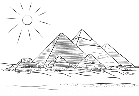 Seven Wonders of the Ancient World Coloring pages. Select