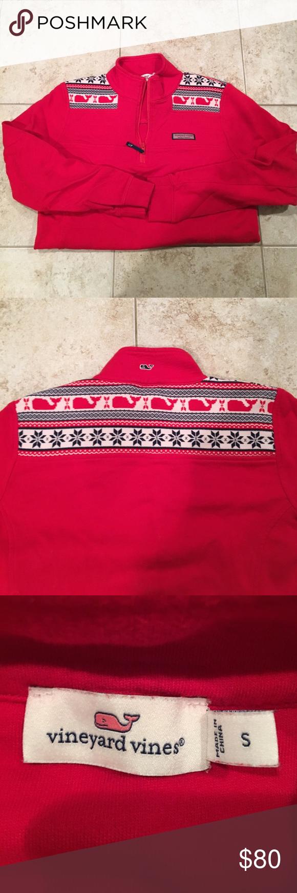 VV Shep Shirt Beautiful like new shep shirt, knitted whale pattern on the shoulders Vineyard Vines Sweaters