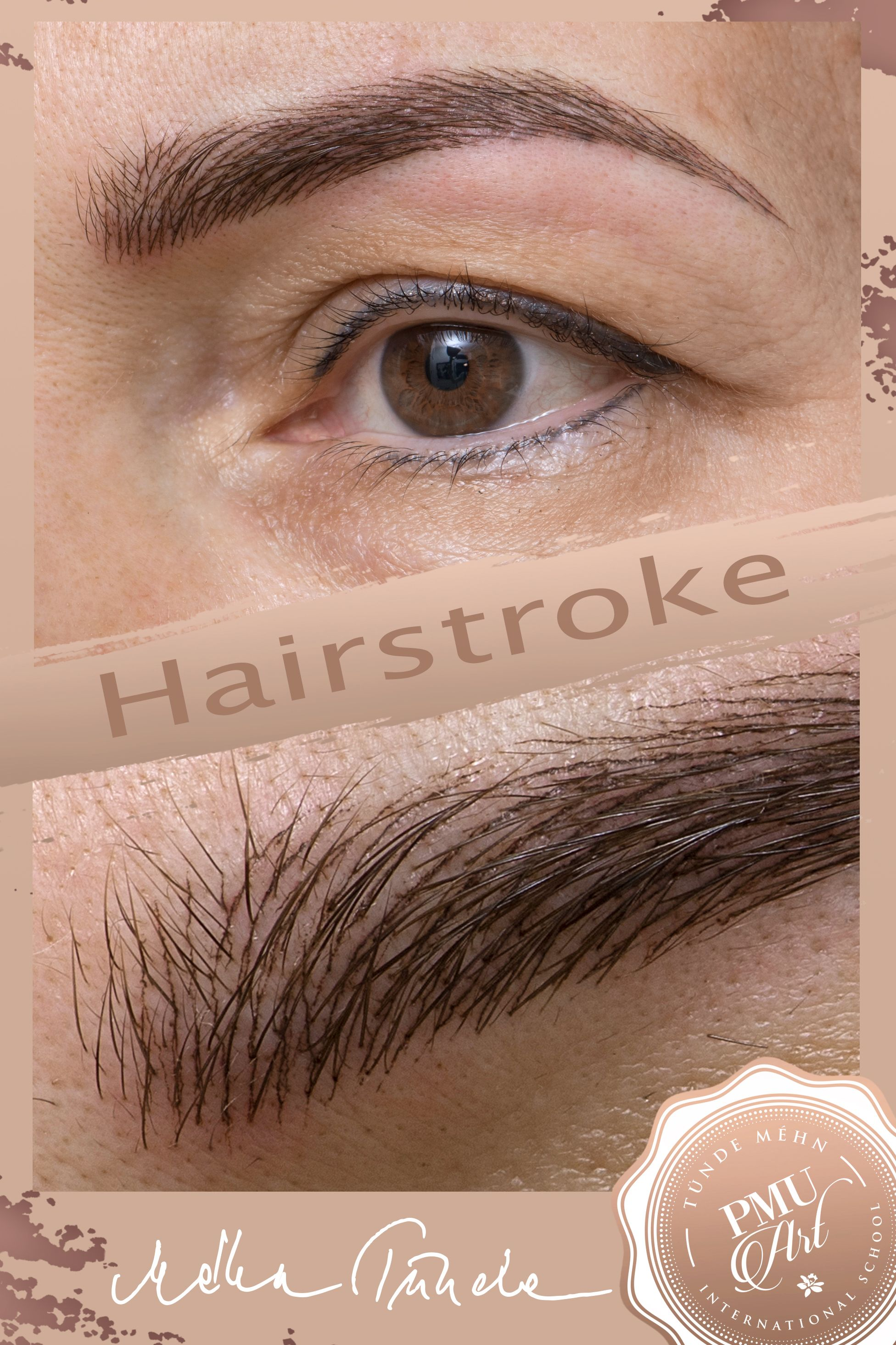 Hairstroke eyebrow tattoo in the name of maximum natural effect ...