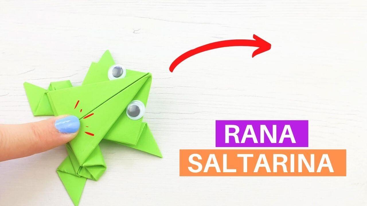 Aprende Como Hacer Una Rana De Papel Saltarina Con Una Hoja De Papel Una Manualidad Sencilla Con La Qu En 2020 Rana De Papel Tutorial De Flores De Papel Origami Facil