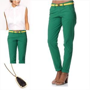 0987a37fbc09 Esprit pants - timeless basics of selected quality ESPRIT PANTS image is  loading esprit-women-039-s-100-cotton-slim-green- AOOSTXF
