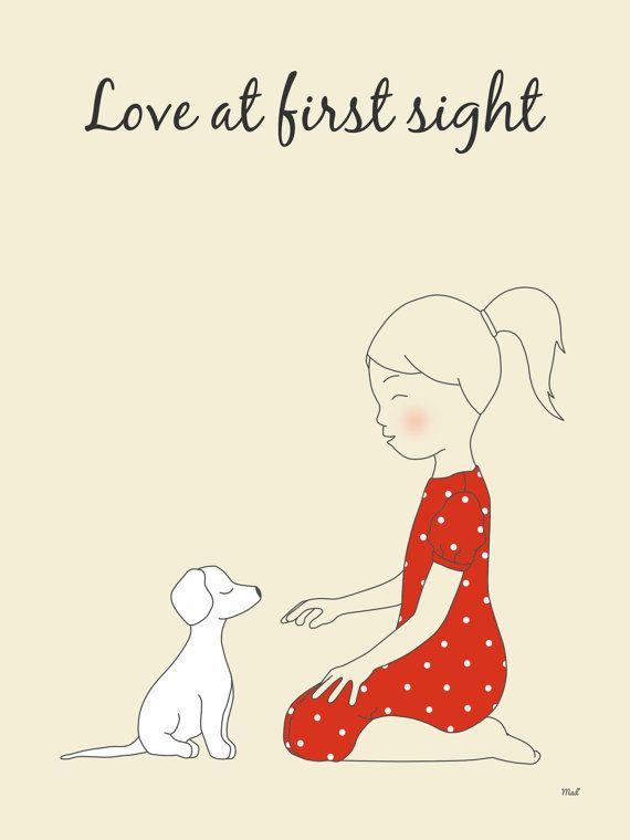 Illustration La Petite Fille Et Le Chien Par