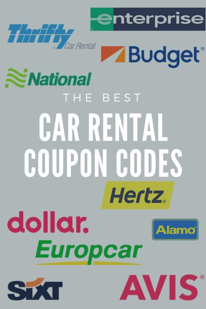 Best Car Rental Coupon Codes To Save You An Insane Amount Of Money Car Rental Coupons Car Rental Rental Car Discounts