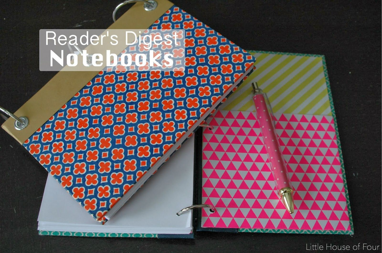 How To Make A Reader S Digest Notebook Old Book Crafts Book Crafts Readers Digest