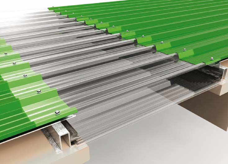 Bonding Amp Fastening Corrugated Polycarbonate Roofing