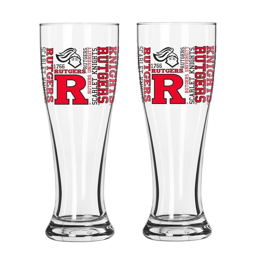 Boelter Rutgers Scarlet Knights Spirit Pilsner Glass Set 16 Oz
