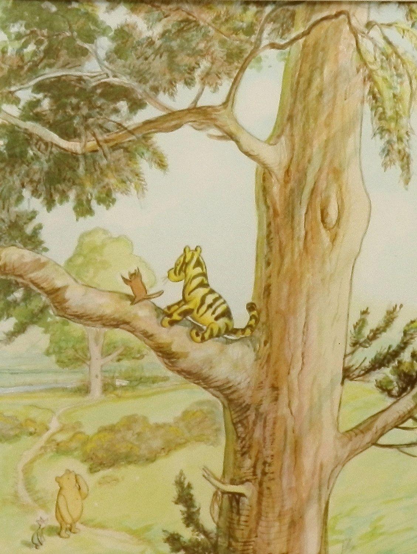Tiggers Don T Climb Trees Print W Mat Vintage Classic