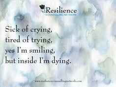 Sad Quote Sick Of Crying.