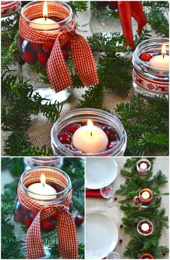 Rustic centerpiece christmas special pinterest rustic rustic centerpiece 12 magnificent mason jar christmas decorations you can make yourself solutioingenieria Gallery