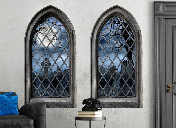Decorate a boring wall with our Haunted Castle window wall decals for this Halloween! Greet & Decorate a boring wall with our Haunted Castle window wall decals ...