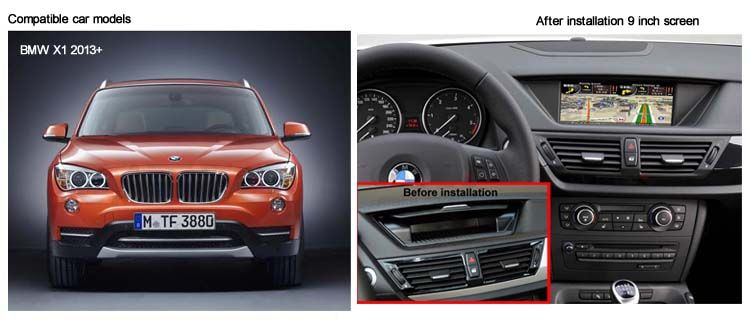 How to Install BMW X1 car dvd player and add gps navigation