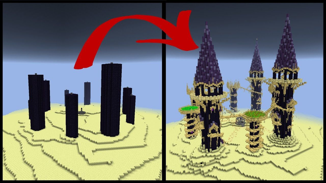 How To Make A Minecraft Obsidian Pillar End City Youtube Minecraft Decorations Minecraft Minecraft Projects