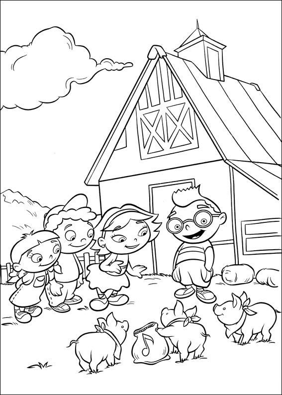 Little Einsteins See Pigs Coloring Pages For Kids For Printable Little Einsteins Coloring Pages For Ki Coloring Pages Little Einsteins Disney Coloring Pages