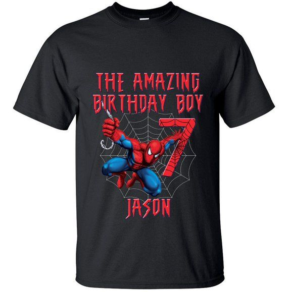7576e88d Spiderman Birthday Shirts For Family Bday Spiderman Shirt Birthday Matching Spiderman  Shirts Women M