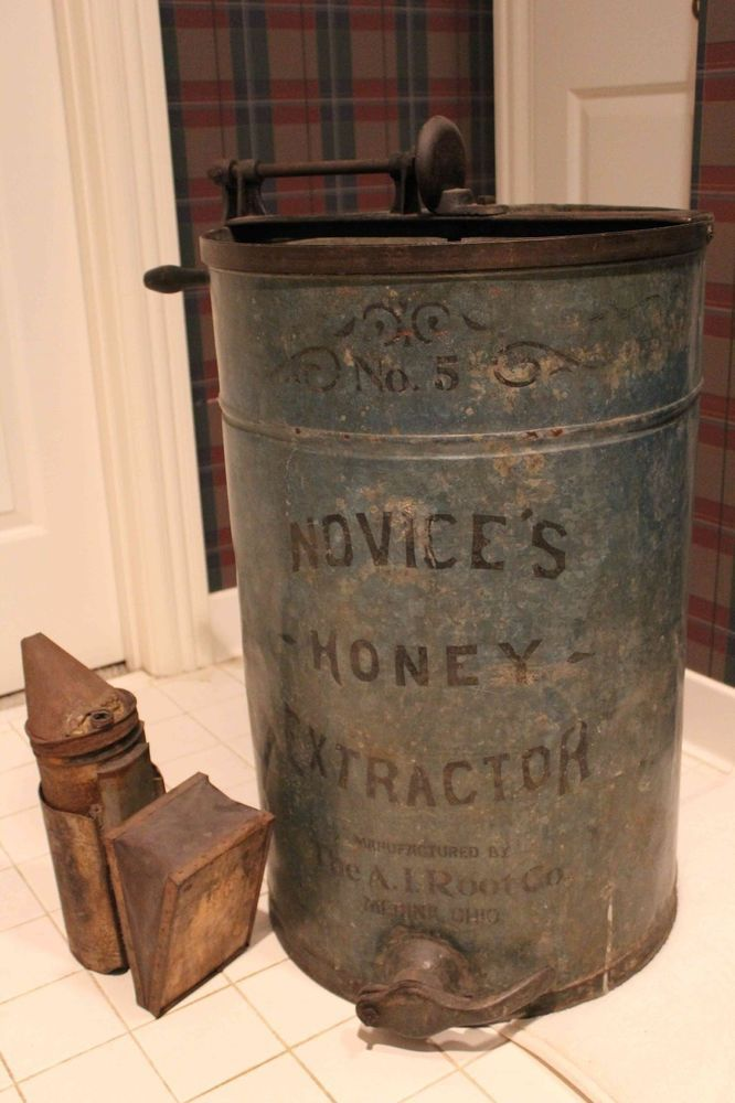 Ai Root Co Antique Metal Honey Extractor Vintage 1920s 1920s