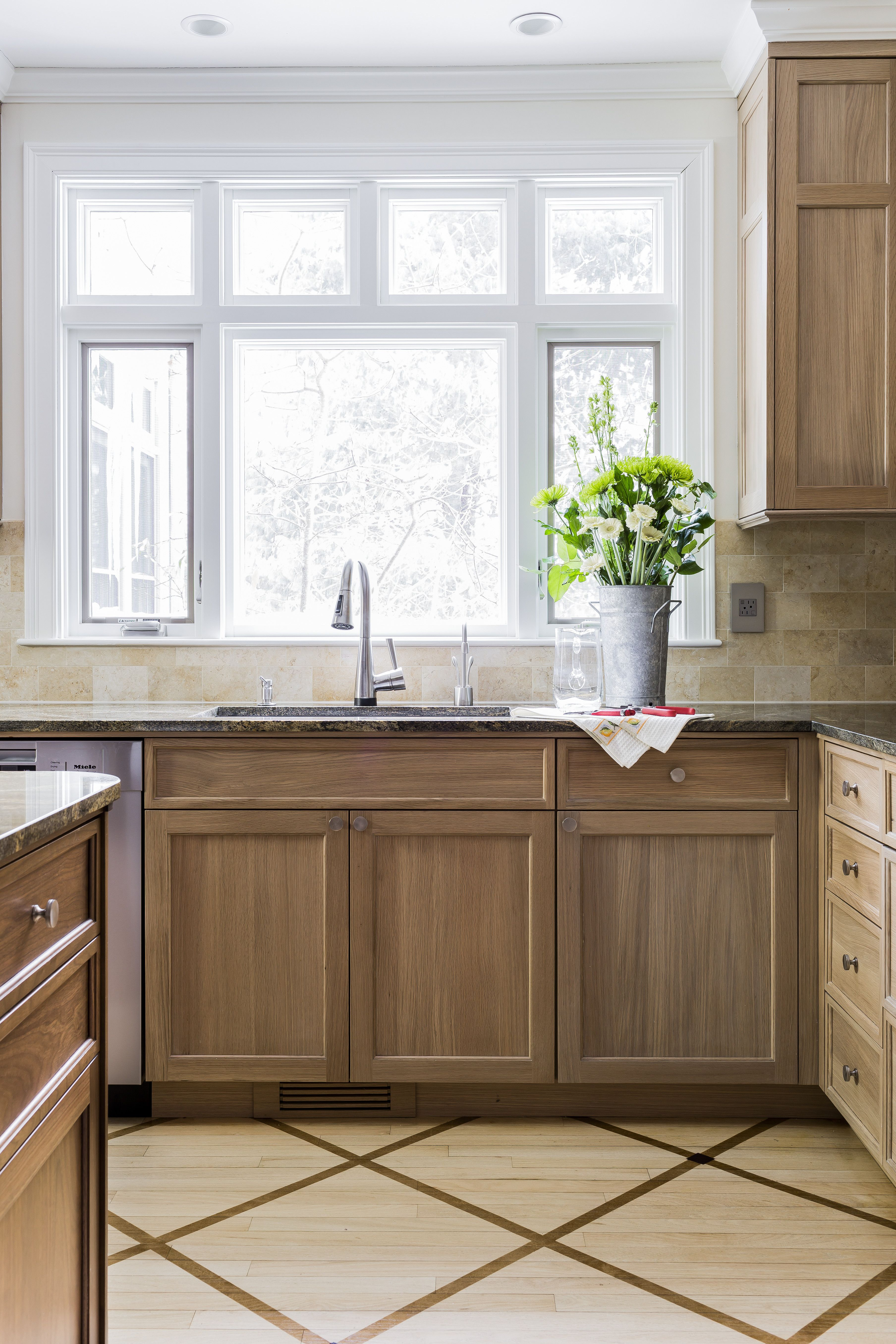 We Widened The Over Sink Window And Added A Transom Above For More Sunlight This Wilson K Kitchen Inspiration Design Kitchen Design Traditional Kitchen Design