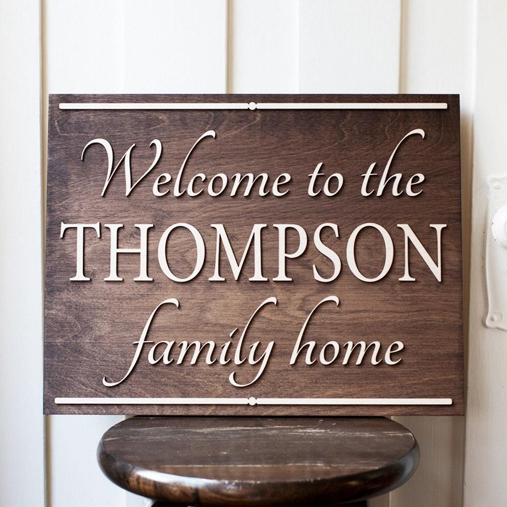 Personalized Sign Family Home Signs Welcome Decor Outdoor Rustic Wood Wedding Gifts Giftedoccasion