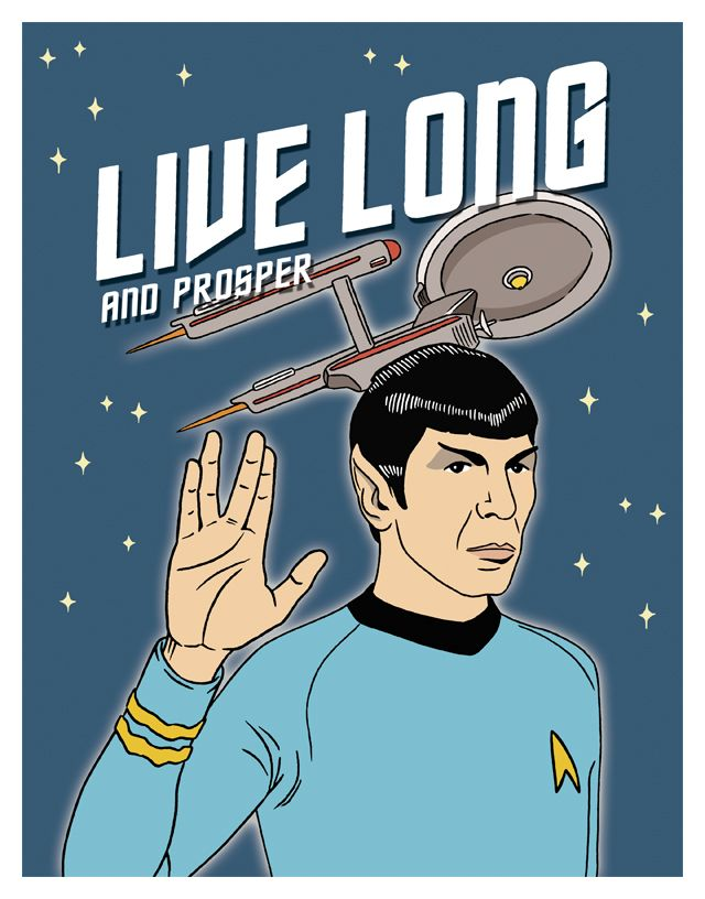 A New Illustrated Star Trek Birthday Card In The Works For The