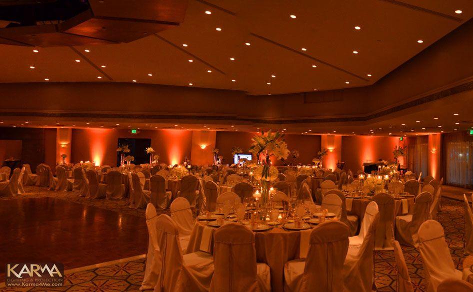 Wedding Lighting Ideas Part 1 - Uplighting by Karma Event Lighting & Peachy coral #uplighting #rentmywedding #receptionideas | The Day I ...