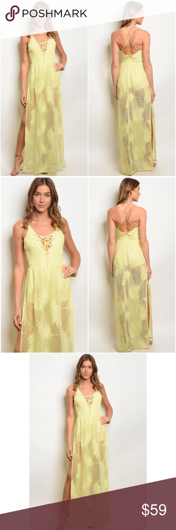 Candace walk through maxi dress please note this is a newly