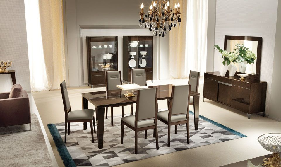 The Murano Dining Set By ALF Is Absolutely Gorgeous Dark Wood Veneer Protected