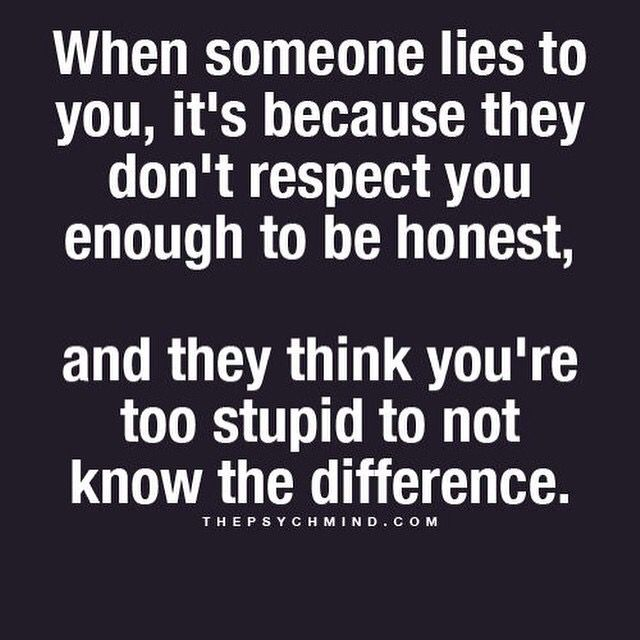 Lying to and about someone may be the lowest form of