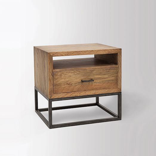 Copenhagen Reclaimed Wood Nightstand West Elm Reclaimed Wood