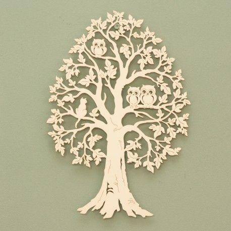 zomerse boom met uilen