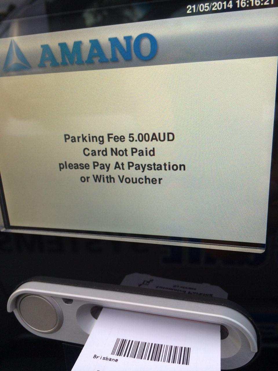 Parking Ticket Machine System Laver Drive Car Park