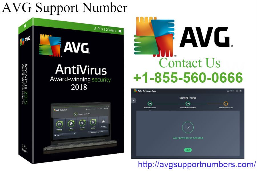 Official AVG support Number is only available from