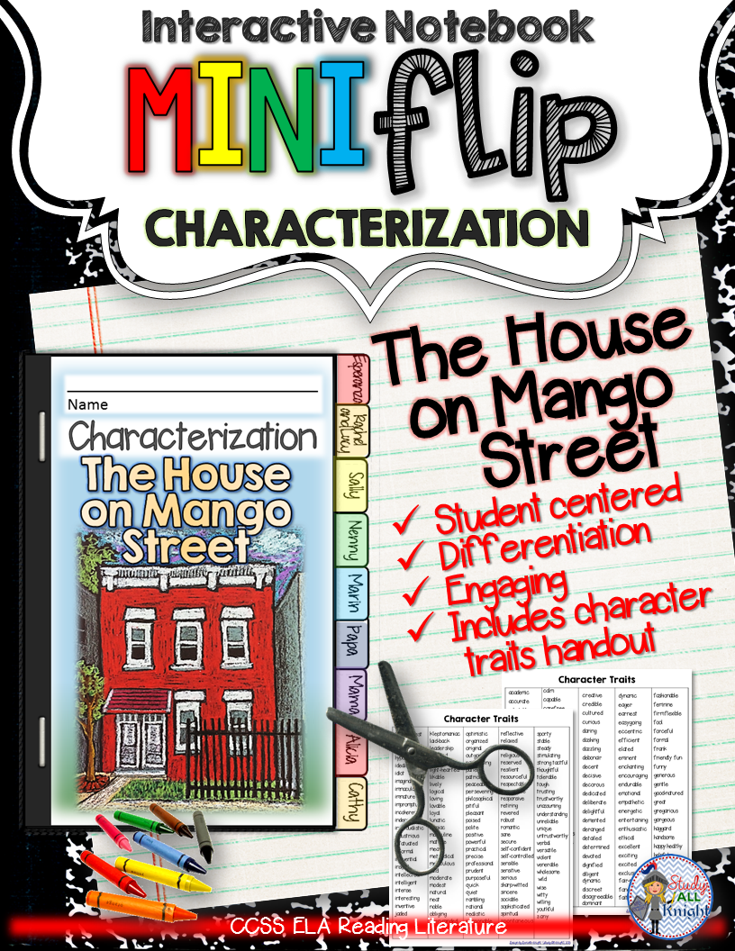 The house on mango street: interactive notebook characterization ...