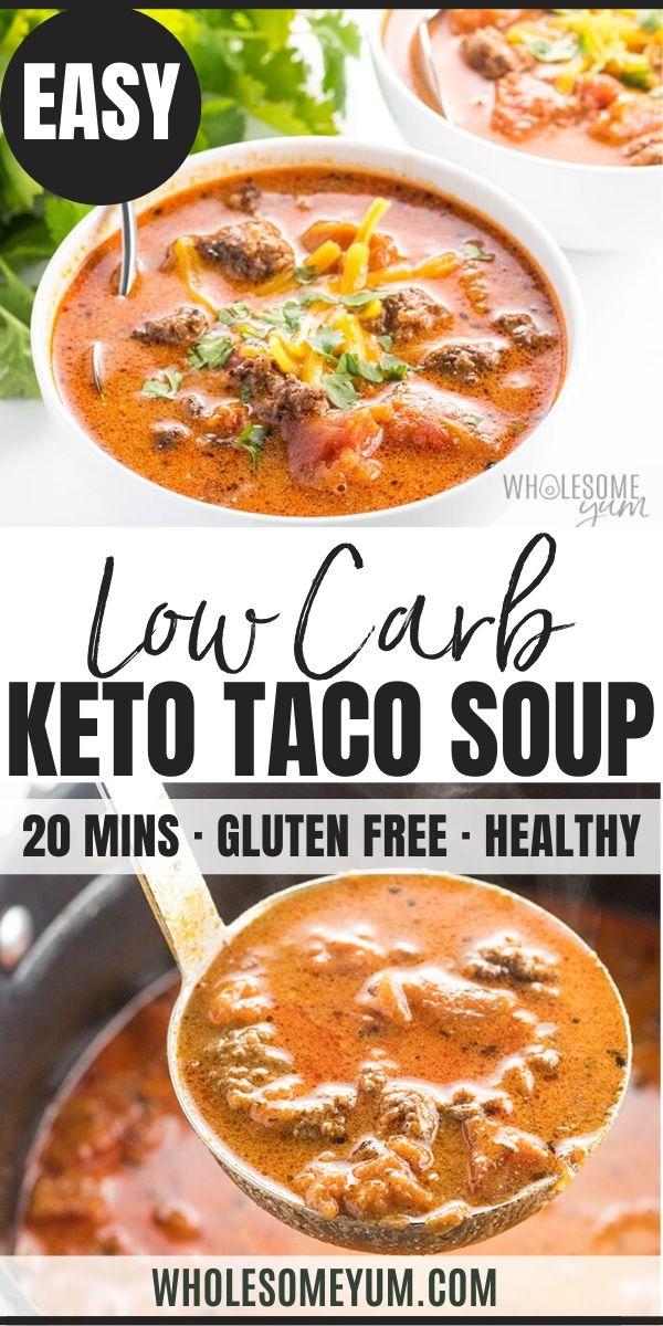 Easy Keto Low Carb Taco Soup Recipe