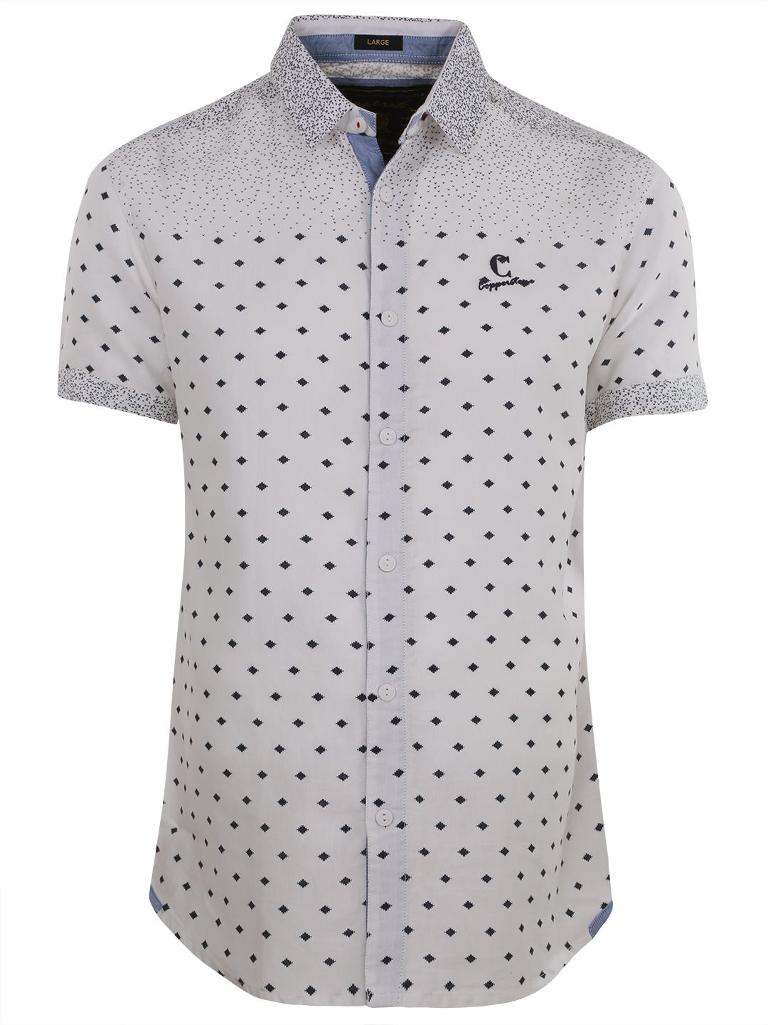 Copperstone Printed White Slim Fit Cotton Shirt. Mens Shirts ...