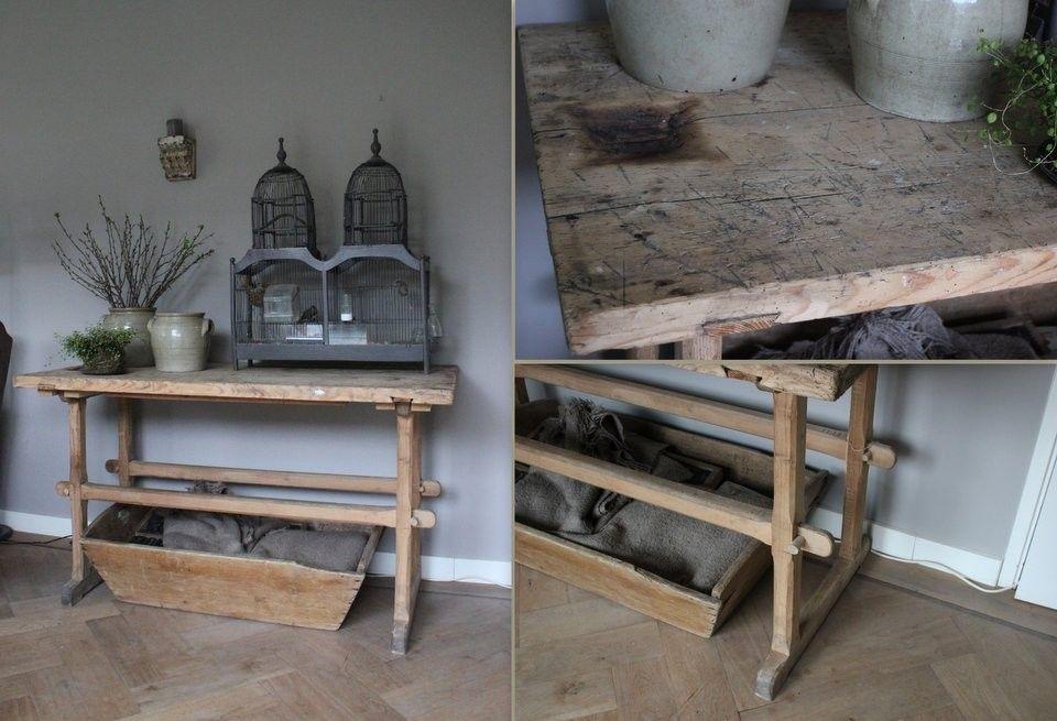 Oude slachttafel werktafel home small tables table en home