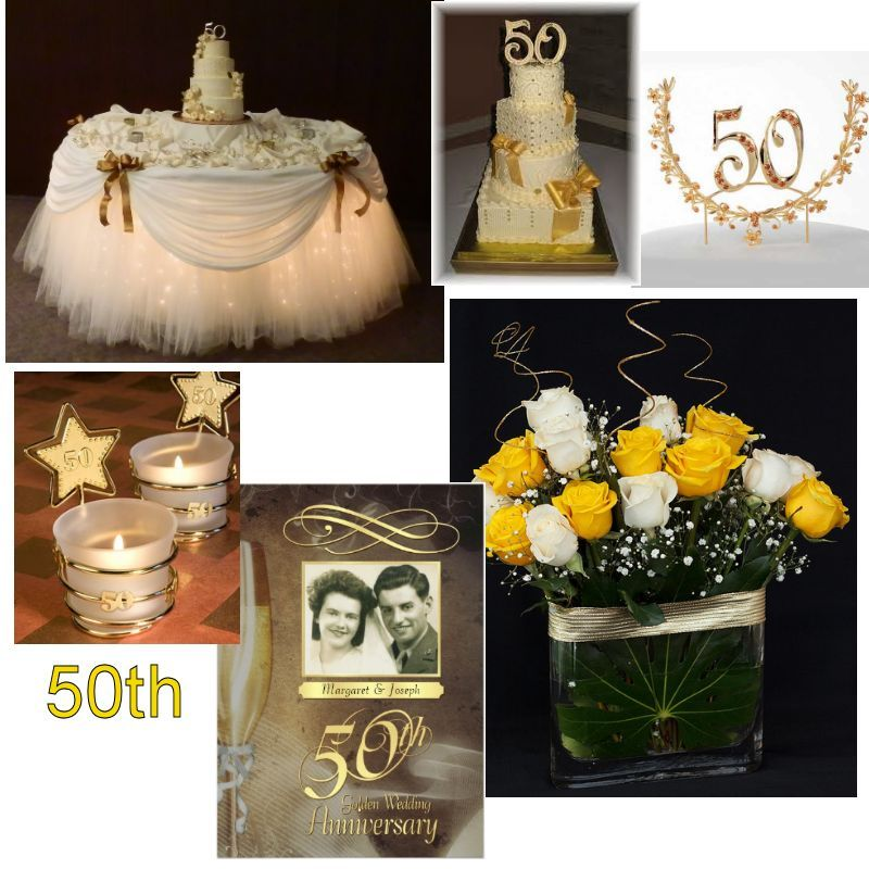 Wedding Gift Table Decoration Ideas: 50th Wedding Anniversary, The Gold Anniversary