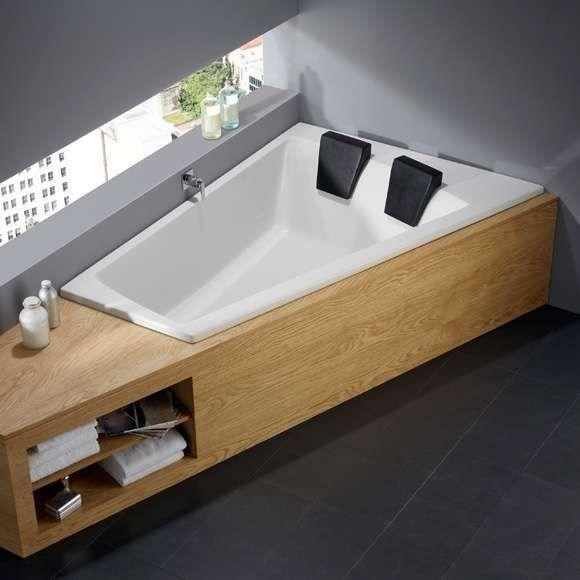 Repabad Geneva Duo left corner bath 180x130 / 65cm, white - Carmen Proctor