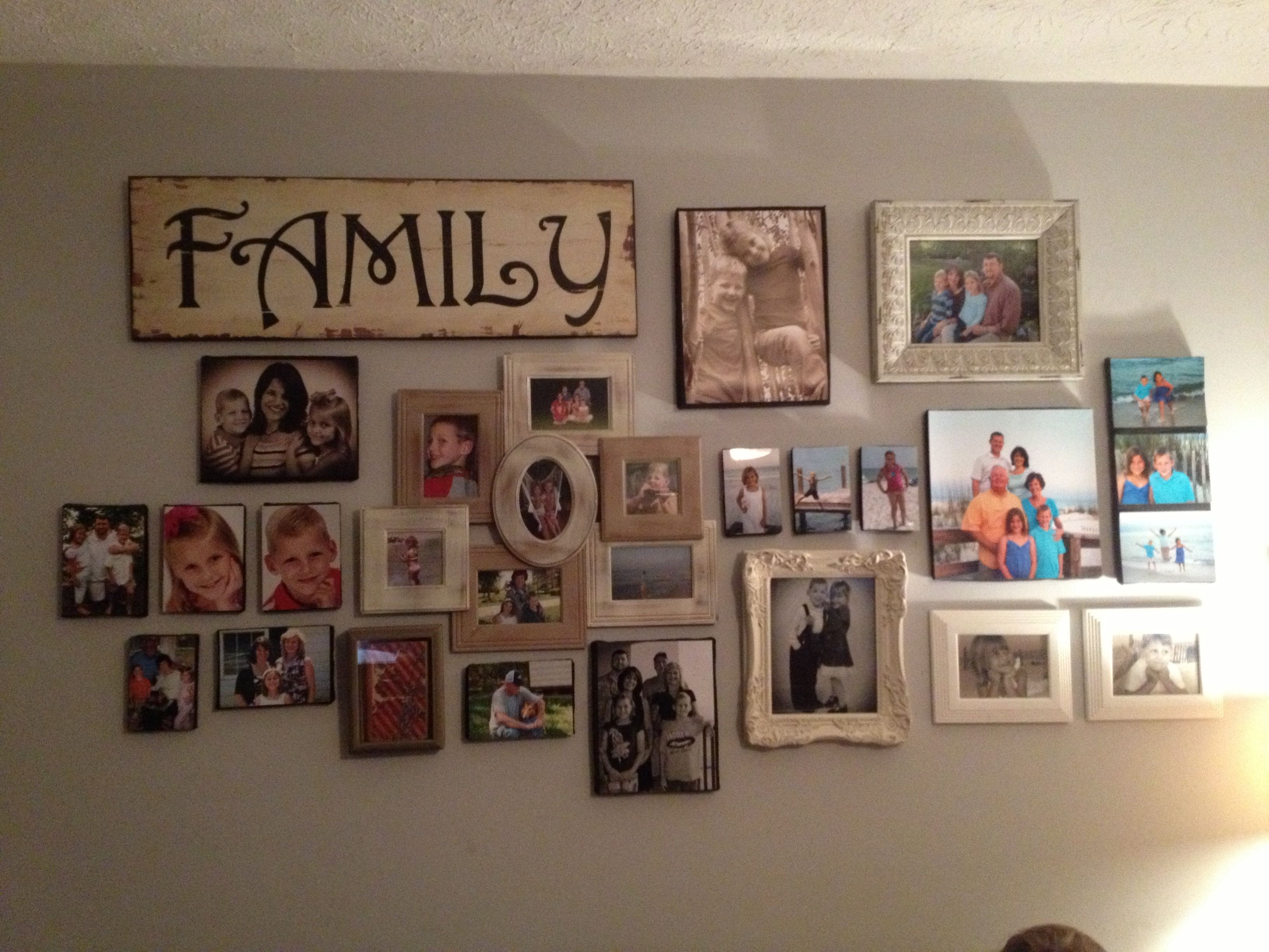 family photo wall collage ideas. Black Bedroom Furniture Sets. Home Design Ideas