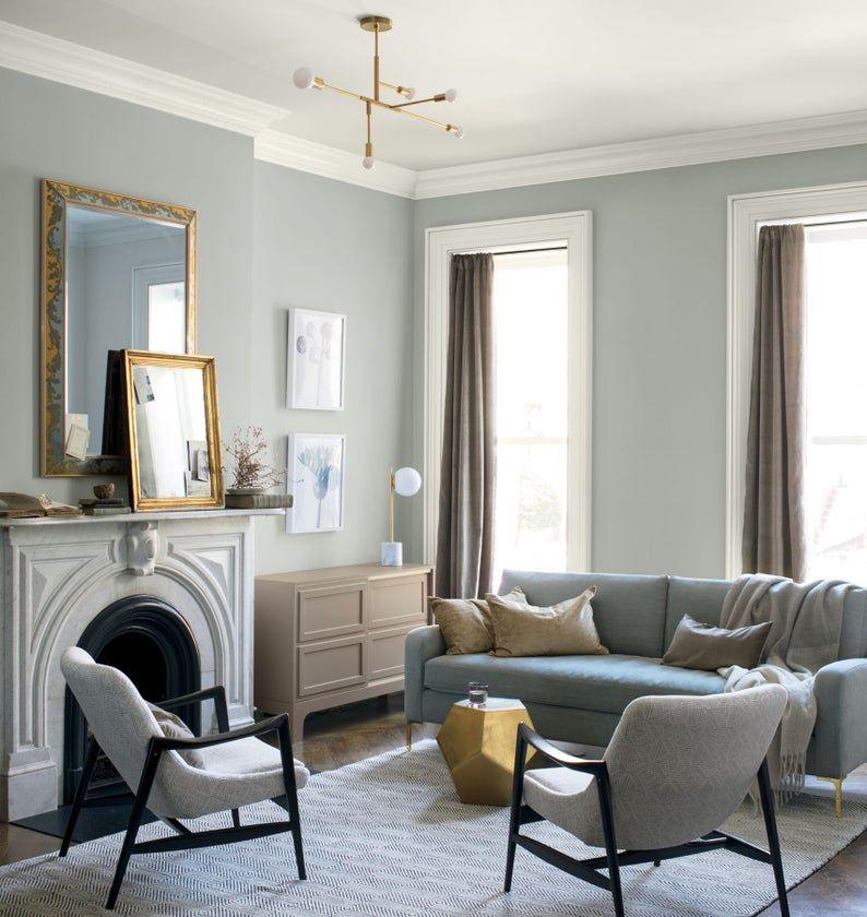 Top 11 Cool Grays Paint Colors Designers Use Get That Etsy In 2021 Living Room Paint Popular Living Room Living Room Color
