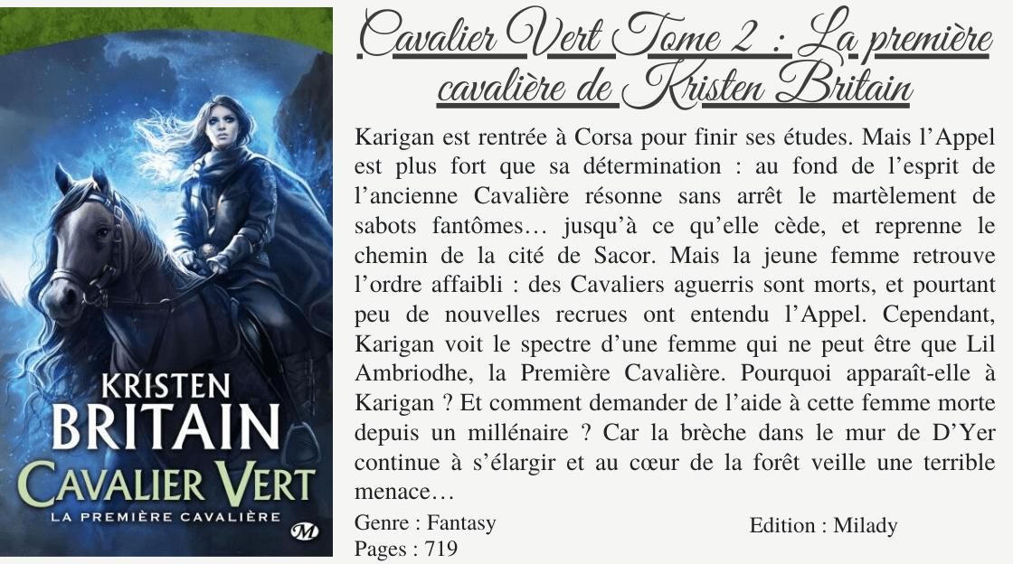 Cavalier Vert T2 La Premiere Cavaliere De Kristen Britain Les Univers Paralleles De Millina En 2020 Premiers Sons Cavaliere Univers Parallele