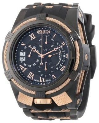7149a907219 Relógio Invicta Men s 12677 Bolt Reserve Chronograph Black Textured Dial  Black Silicone Watch  Relogios  Invicta